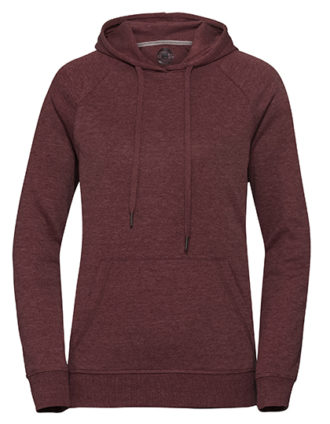 Ladies' HD Hooded Sweat Russell - maroon