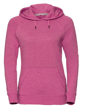 Ladies' HD Hooded Sweat Russell - pink