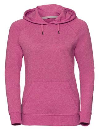 Ladies' HD Hooded Sweat Russell - pink