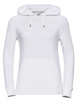 Ladies' HD Hooded Sweat Russell - white