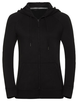 Ladies' HD Zipped Hood Sweat Russell - black