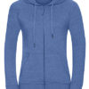 Ladies' HD Zipped Hood Sweat Russell - blue