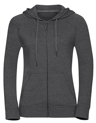 Ladies' HD Zipped Hood Sweat Russell - grey