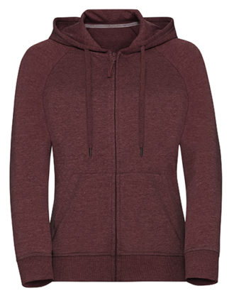 Ladies' HD Zipped Hood Sweat Russell - maroon