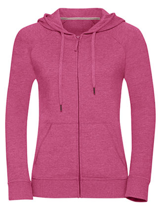 Ladies' HD Zipped Hood Sweat Russell - pink