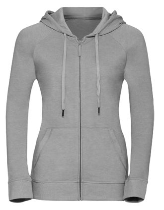 Ladies' HD Zipped Hood Sweat Russell - silver
