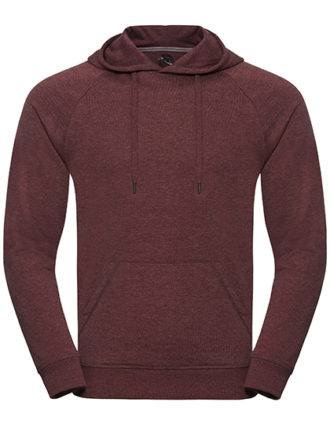 Men's HD Hooded Sweat Russell - maroon