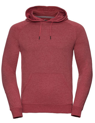 Men's HD Hooded Sweat Russell - red