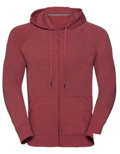 Men's HD Zipped Hood Sweat Russell - red