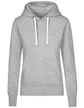 XO Hoody Sweater Women Promodoro - heather grey
