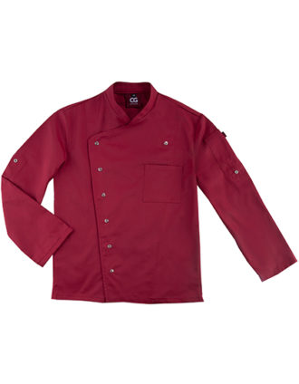 Chef's Jacket Turin Man Classic CG Workwear - cherry