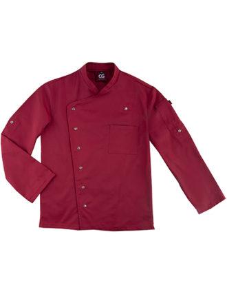 Chef's Jacket Turin Man Classic CG Workwear - cherry
