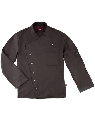 Chef's Jacket Turin Man Classic CG Workwear - chocolate brown
