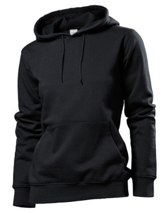 Hooded Women Sweatshirt Stedman - black opal