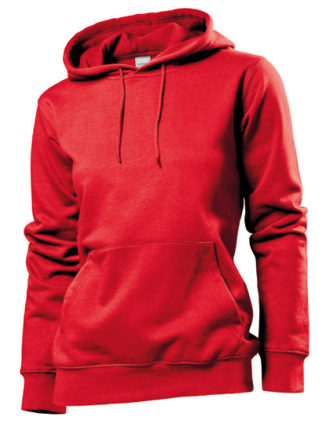 Hooded Women Sweatshirt Stedman - red