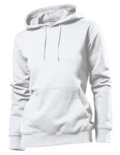 Hooded Women Sweatshirt Stedman - white