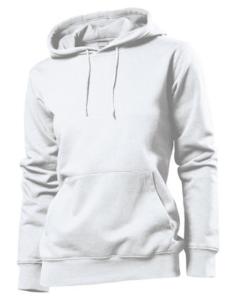 Hooded Women Sweatshirt Stedman - white