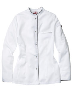 Kochjacke Pistoia Lady CG Workwear - white black