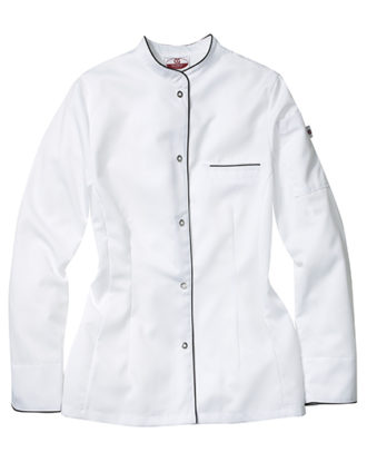 Kochjacke Pistoia Lady CG Workwear - white black