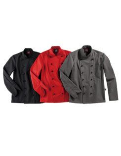 Kochjacke Rimini Lady CG Workwear - black, red, elefant