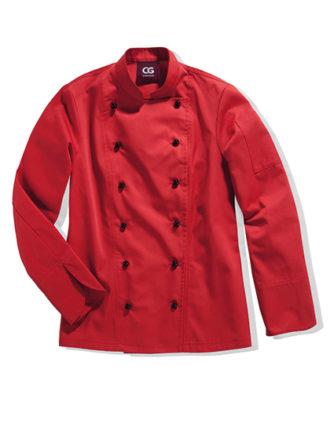 Kochjacke Rimini Lady CG Workwear - red