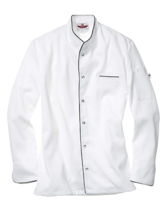 Kochjacke Trapani Man CG Workwear - white black