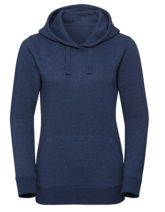 Ladies' Authentic Melange Hooded Sweat Russell - ocean melange