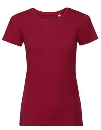 Ladies' Authentic Tee Pure Organic Russell - classic red