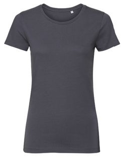 Ladies' Authentic Tee Pure Organic Russell - convoy grey