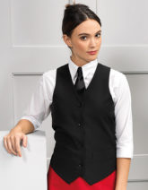Ladies' Lined Polyester Waistcoat Premier