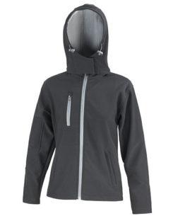 Ladies' TX Performance Hooded Softshell Jacket Result - black grey