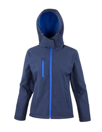 Ladies' TX Performance Hooded Softshell Jacket Result - navy royal