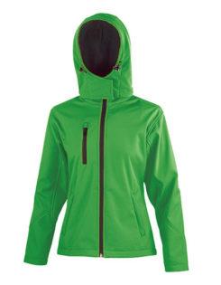 Ladies' TX Performance Hooded Softshell Jacket Result - vivid green black