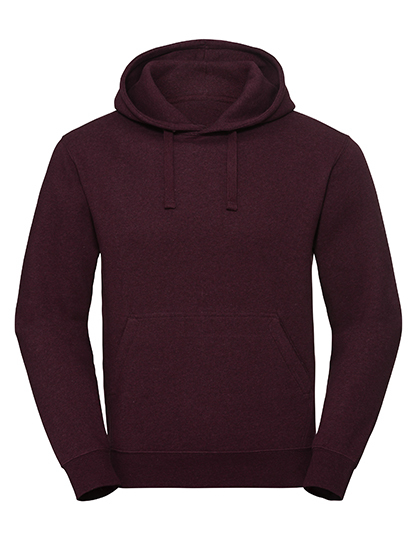 Men's Authentic Melange Hooded Sweat Russell - burgundy melange
