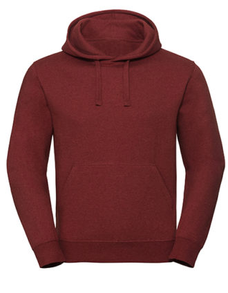 Men's Authentic Melange Hooded Sweat Russell - red melange