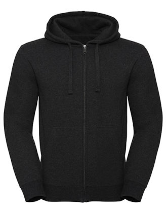 Men's Authentic Melange Zipped Hood Sweat Russell - charcoal melange