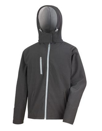 Men's TX Performance Hooded Soft Jacket Result - black grey
