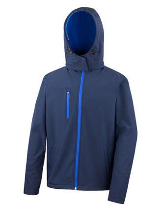 Men's TX Performance Hooded Soft Jacket Result - navy royal