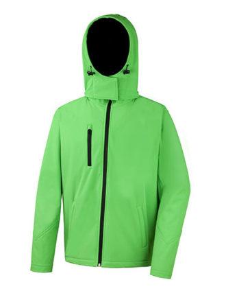 Men's TX Performance Hooded Soft Jacket Result - vivid green black