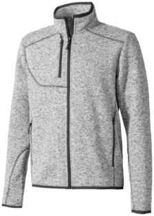 Tremblant Herren Strickfleecejacke Elevate - heather grey