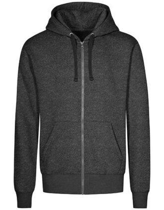 XO Hoody Jacket Men Promodoro - heather black