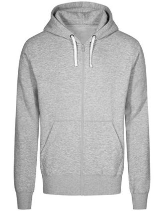 XO Hoody Jacket Men Promodoro - heather grey