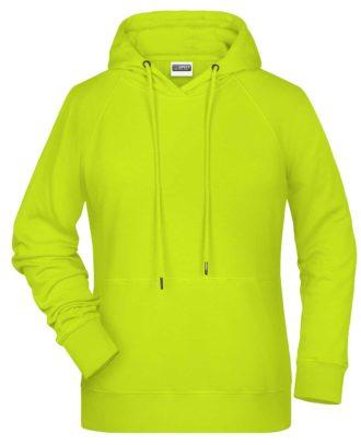 Ladies Bio Hoody - acid yellow