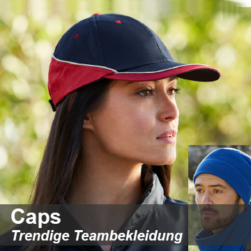Caps mit Firmenlogo