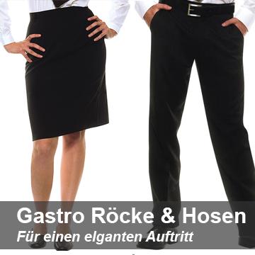 Gastrohosen und Gastroröcke