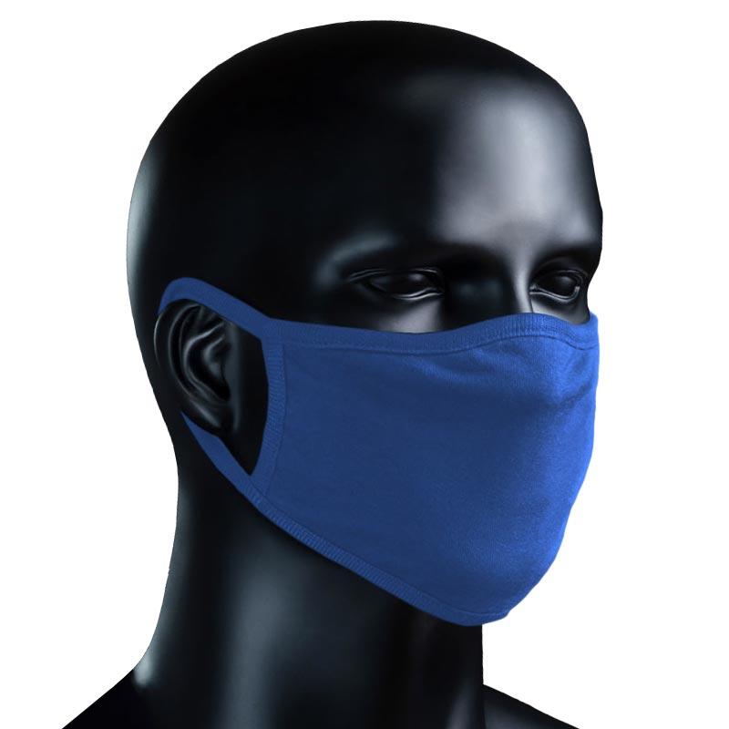 BIO Stoffmaske - azurblau