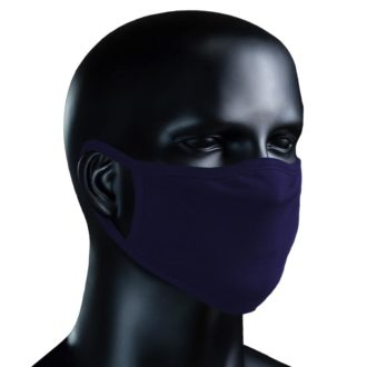 BIO Stoffmaske - dunkelblau