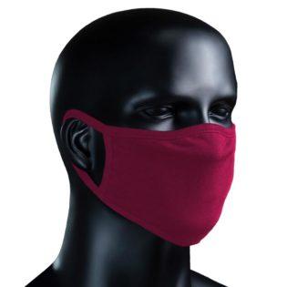 BIO Stoffmaske - weinrot